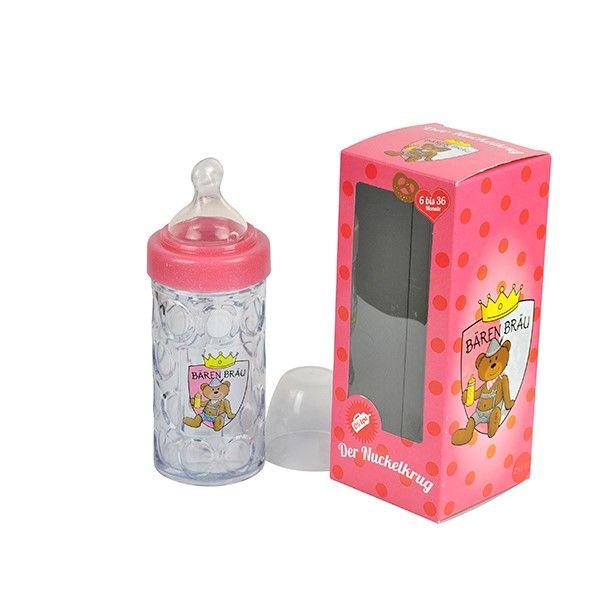 Nuckelkrug rosa - Paul der Bär - Baby Bierkrug