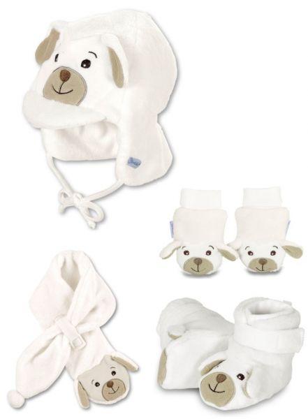 Sterntaler Baby Schaf Mütze, Schuhe, Fäustlinge, Schal