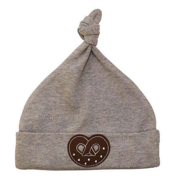 Trachtenmütze Trachtenhut fürs Baby grau Brezel - P. Eisenherz