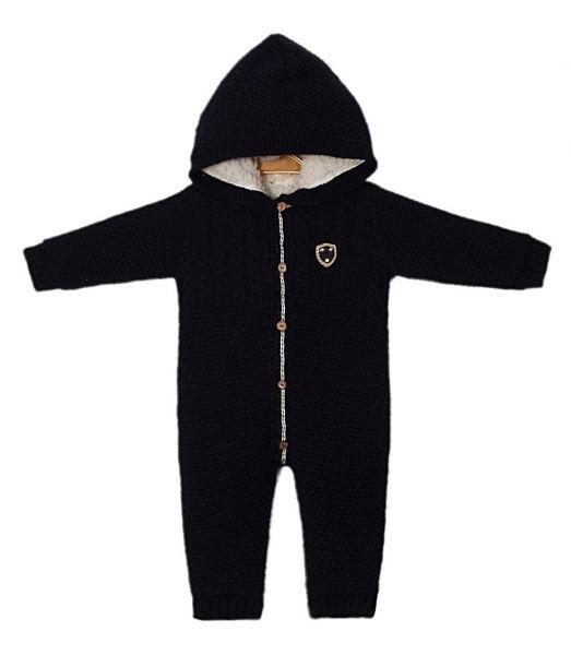 Baby Plüsch Overall marine für Jungen - für den Winter - Cassiope Baby