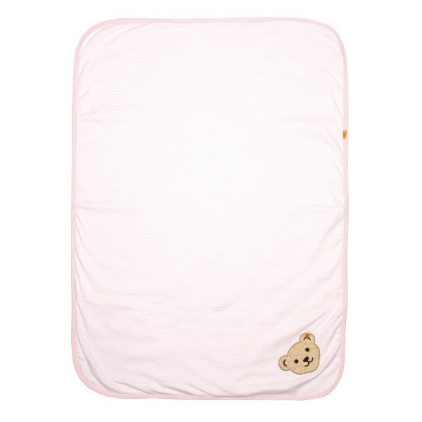 Babydecke rosa wattiert - Steiff